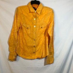 Cruel Girl Orange Western Snap Front Cotton Shirt